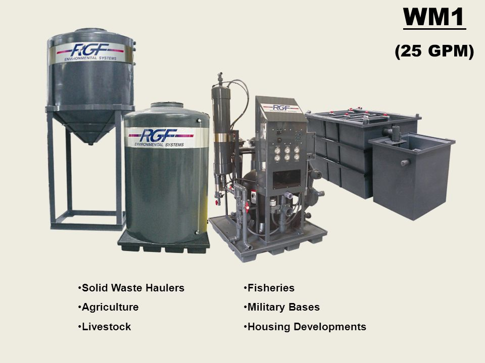WM1 (25 GPM) Solid Waste Haulers Agriculture Livestock Fisheries