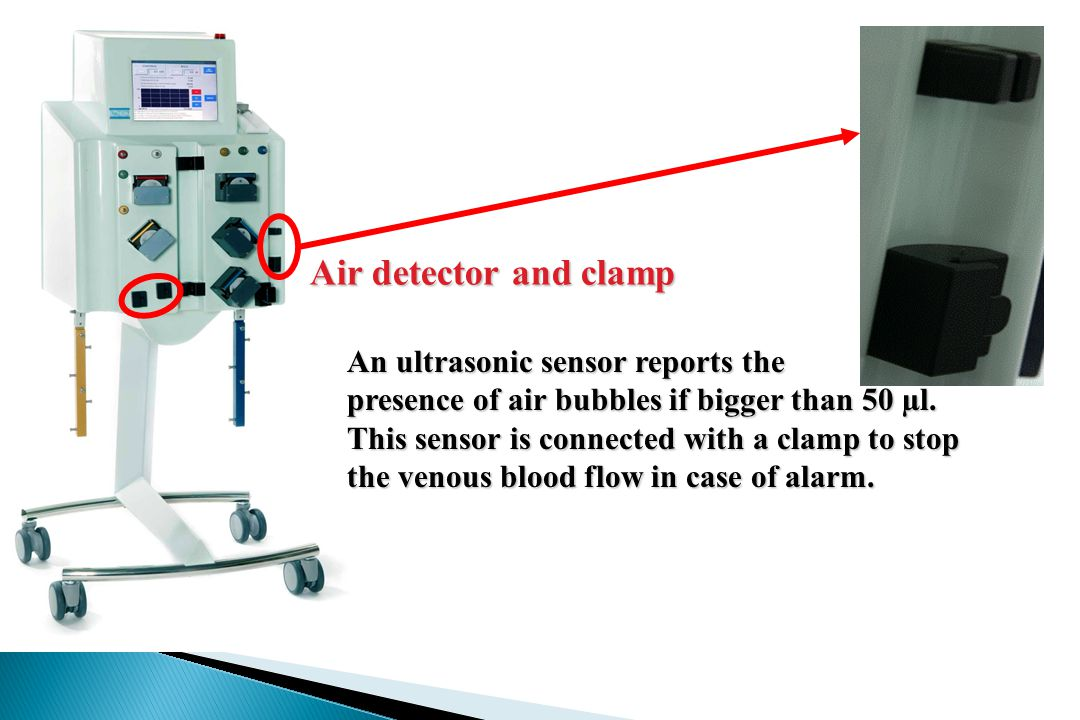 Air detector and clamp