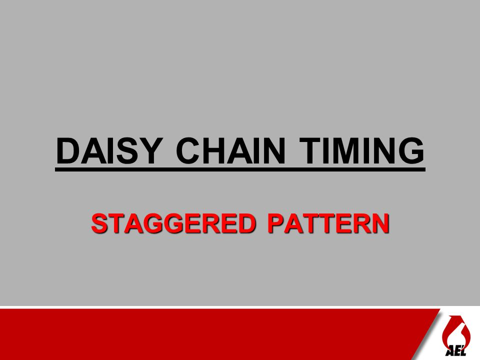DAISY CHAIN TIMING STAGGERED PATTERN