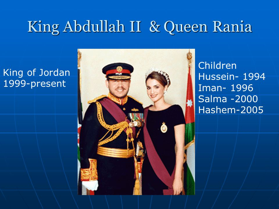 King Abdullah II & Queen Rania