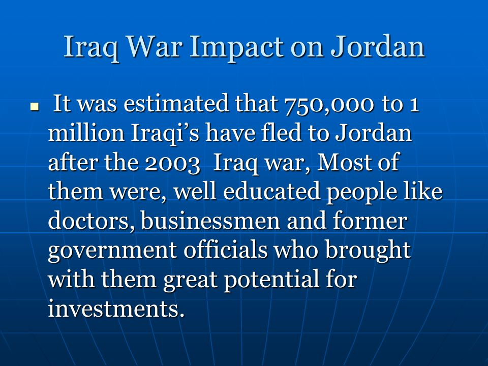 Iraq War Impact on Jordan