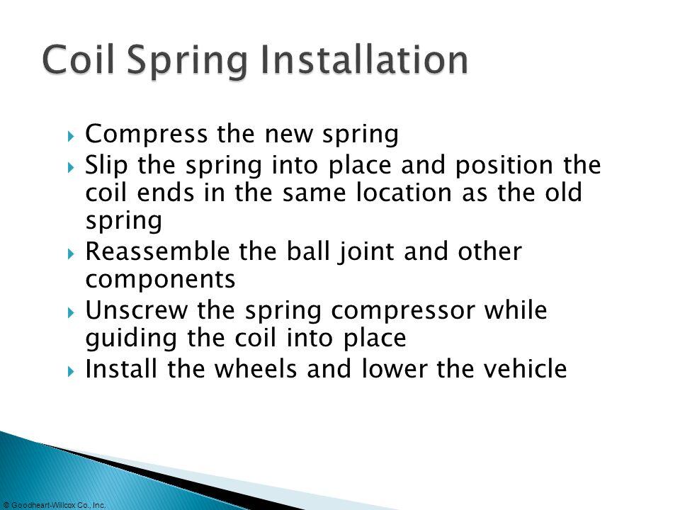 Coil Spring Installation