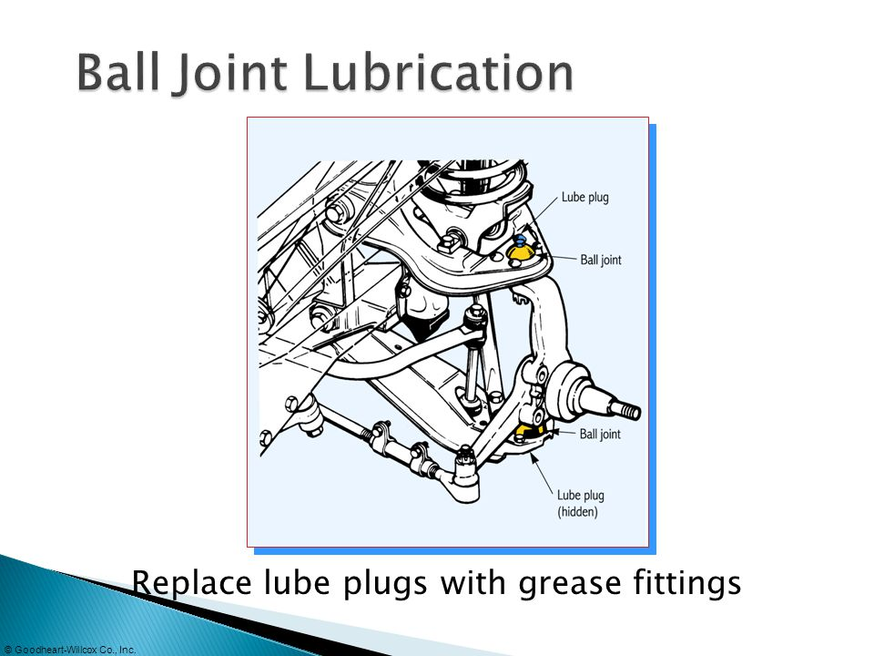 Ball Joint Lubrication