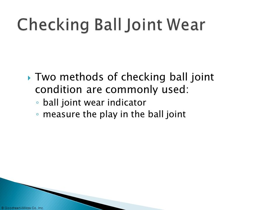 Checking Ball Joint Wear
