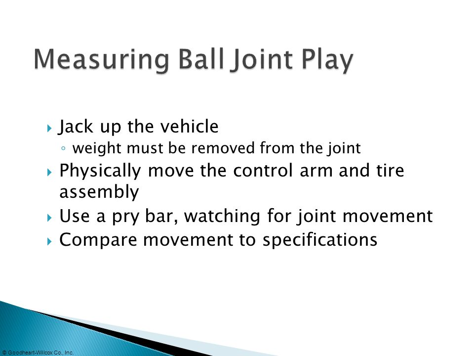 Measuring Ball Joint Play