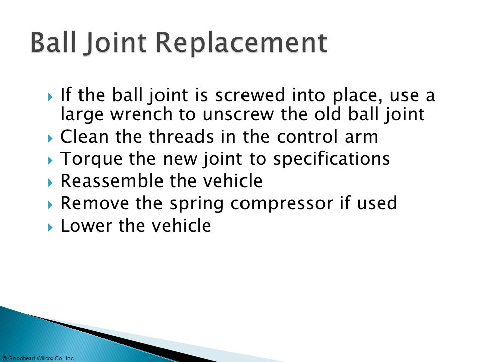 Ball Joint Replacement