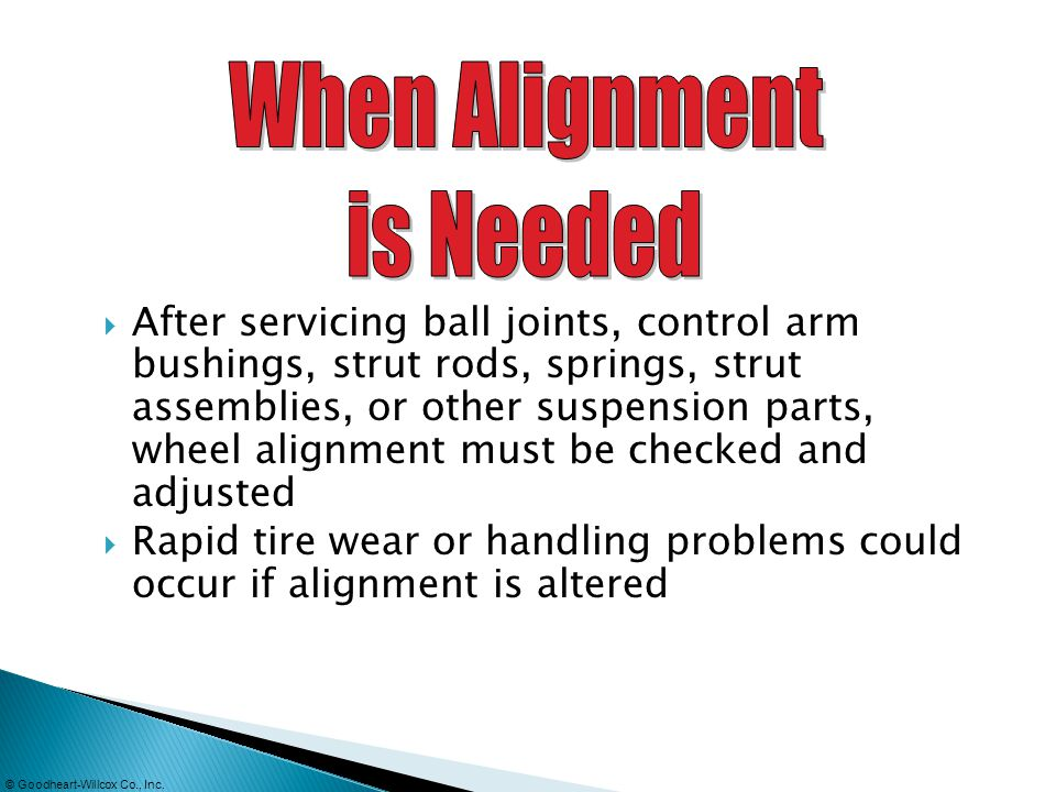 When Alignment is Needed