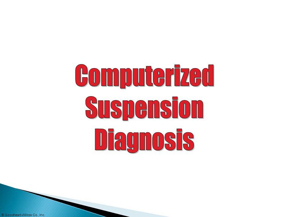Computerized Suspension Diagnosis