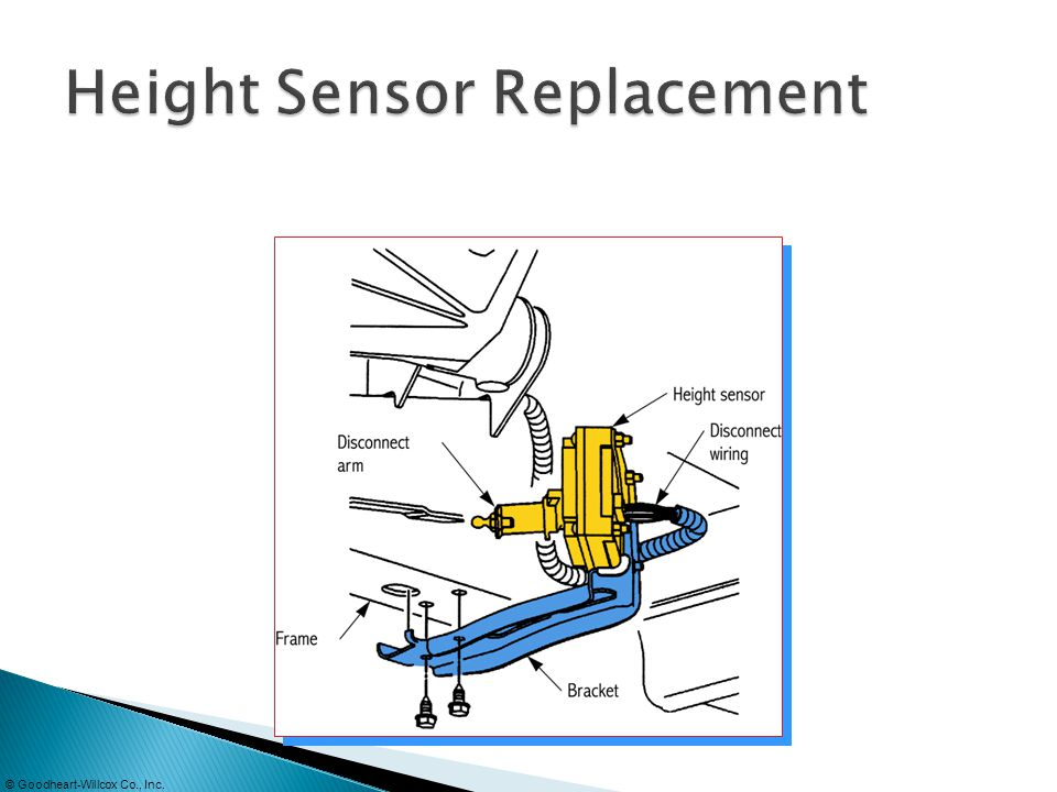 Height Sensor Replacement