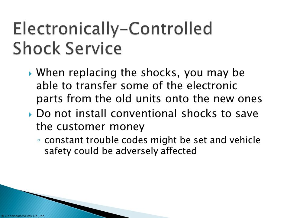 Electronically-Controlled Shock Service