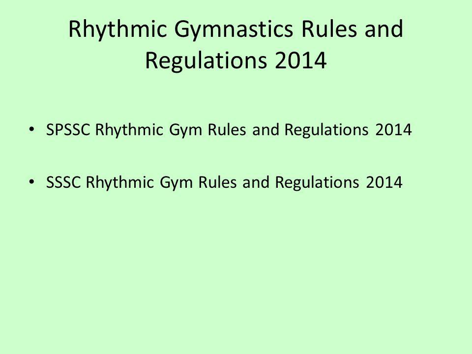 Rhythmic Gymnastics Rules and Regulations 2014