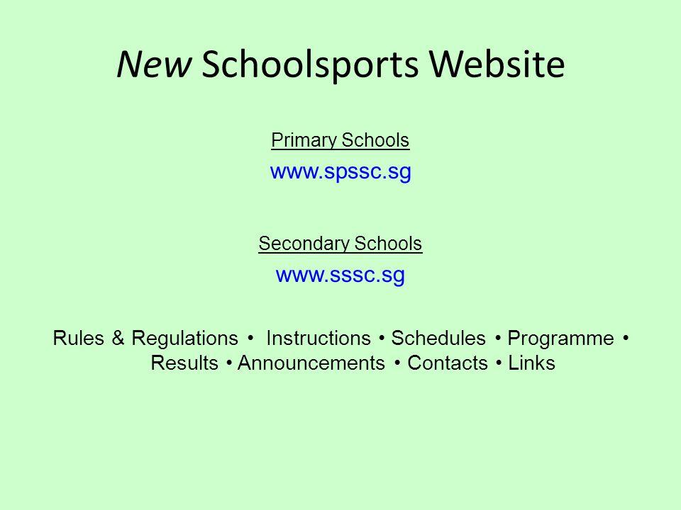 New Schoolsports Website