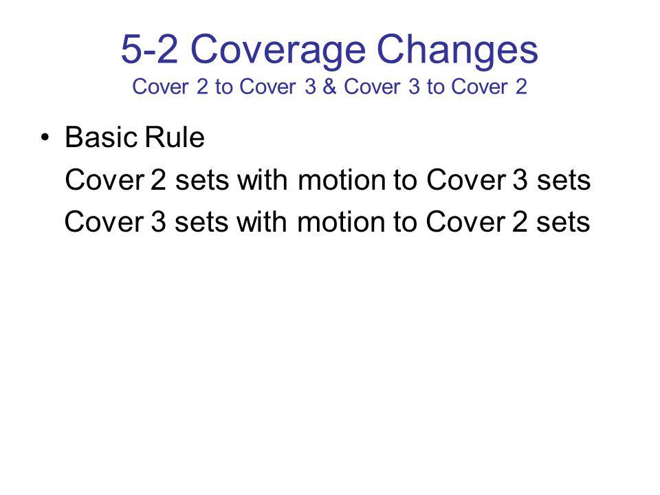 5-2 Coverage Changes Cover 2 to Cover 3 & Cover 3 to Cover 2