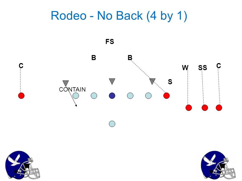 Rodeo - No Back (4 by 1) FS B B C C W SS S CONTAIN 35