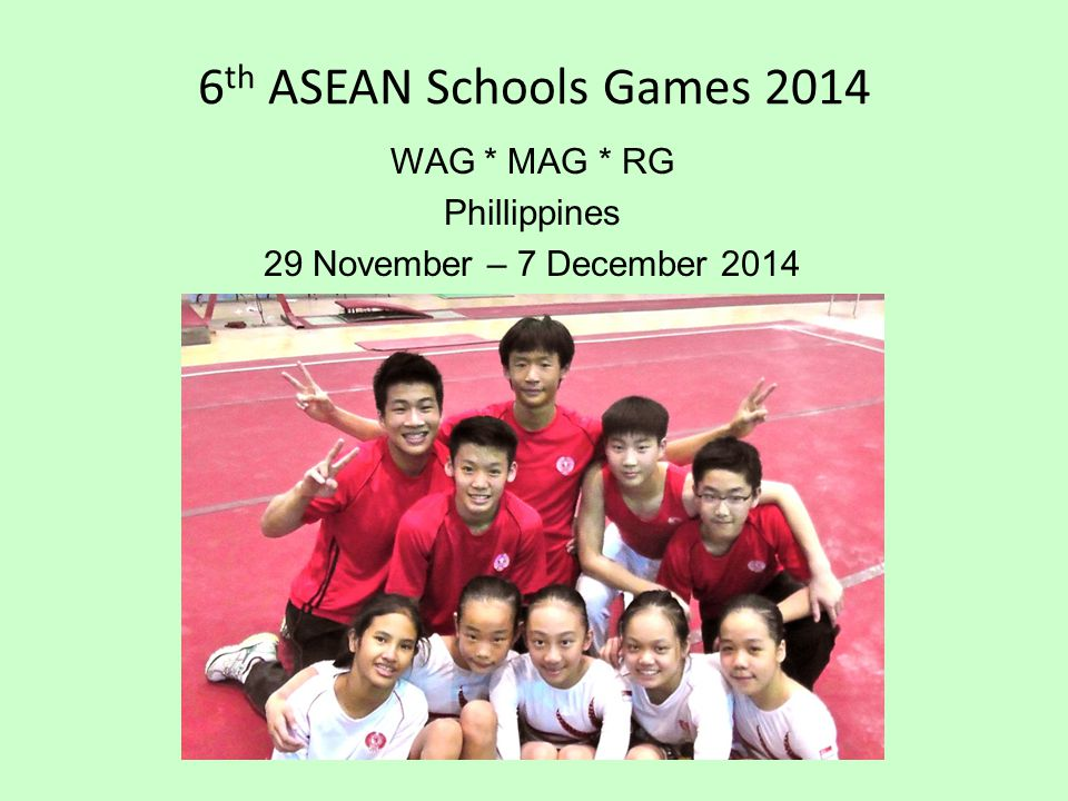 WAG * MAG * RG Phillippines 29 November – 7 December 2014