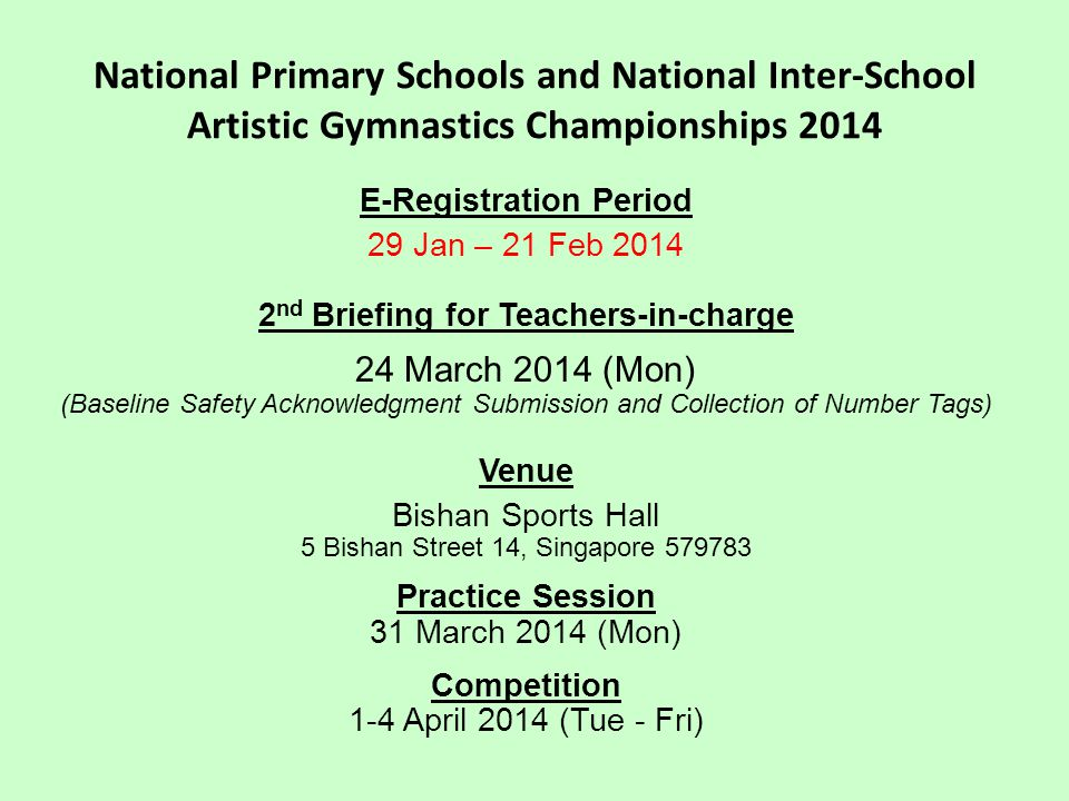 E-Registration Period 2nd Briefing for Teachers-in-charge