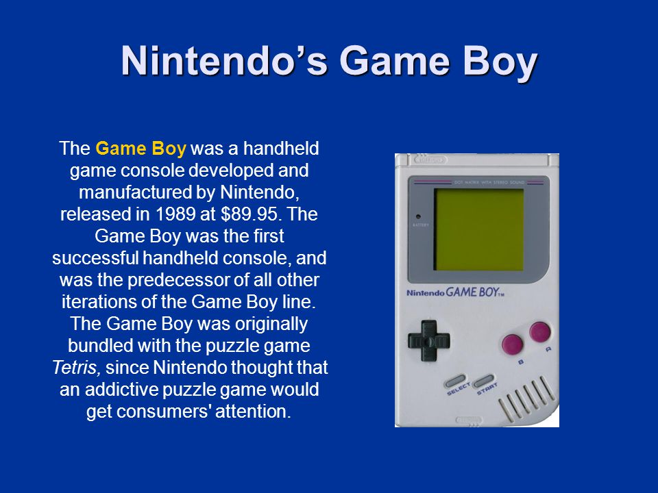 Nintendo's Game Boy
