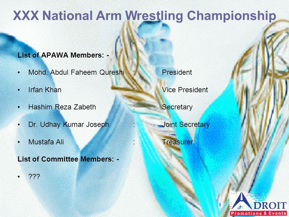 XXX National Arm Wrestling Championship