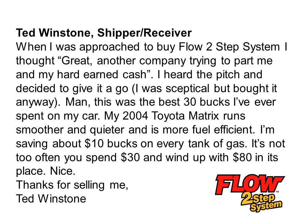 Ted Winstone, Shipper/Receiver