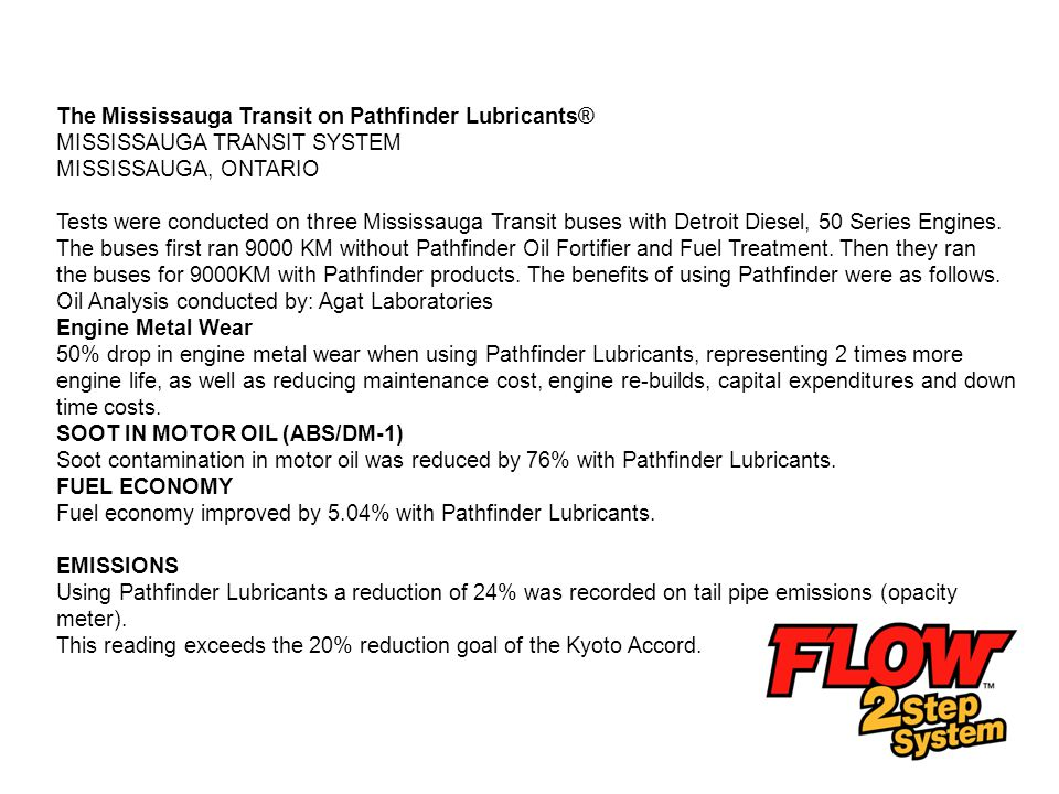 The Mississauga Transit on Pathfinder Lubricants®