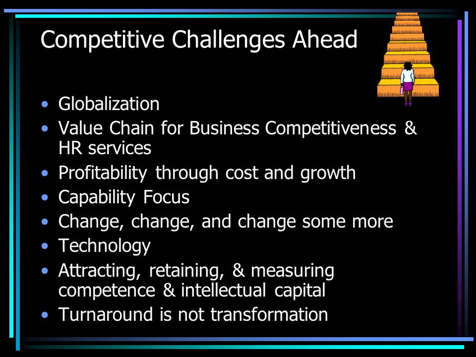 Competitive Challenges Ahead