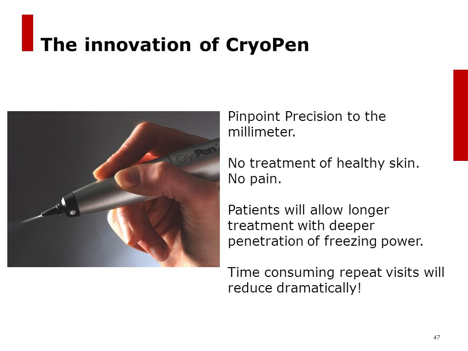 The innovation of CryoPen