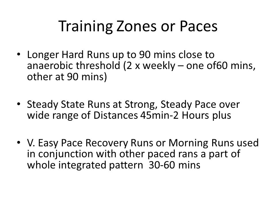 Training Zones or Paces