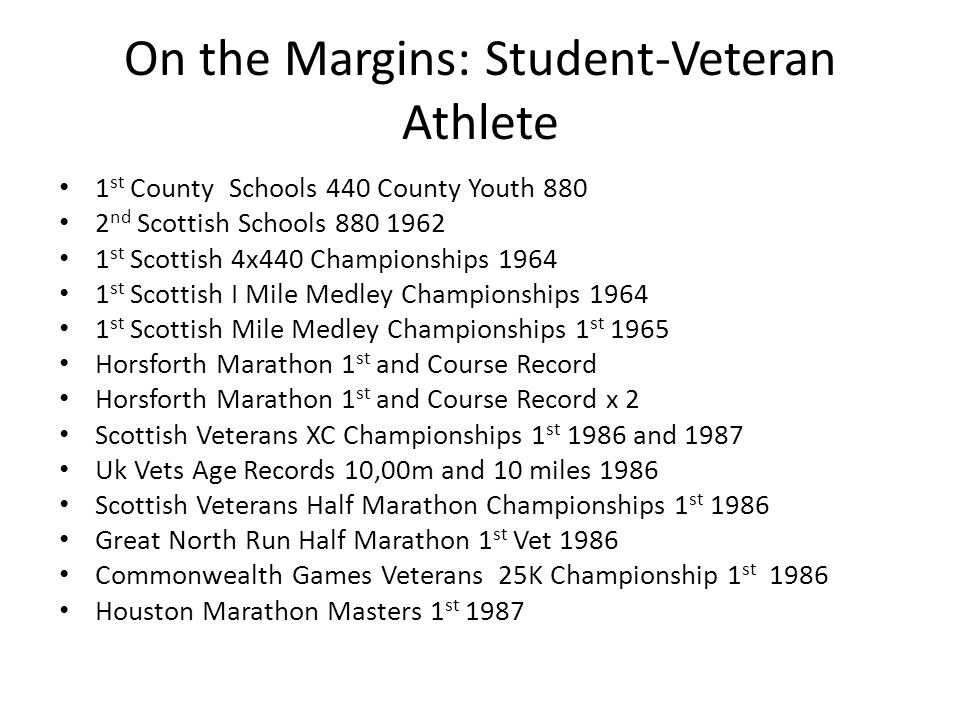 On the Margins: Student-Veteran Athlete