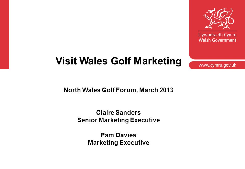 Visit Wales Golf Marketing