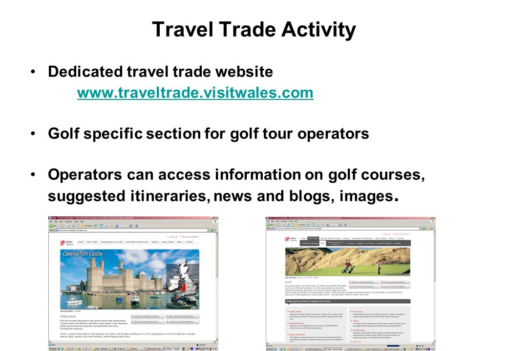 Travel Trade Activity Dedicated travel trade website