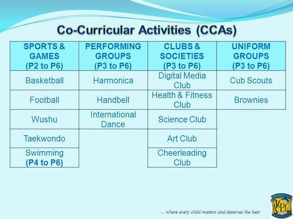 Co-Curricular Activities (CCAs)