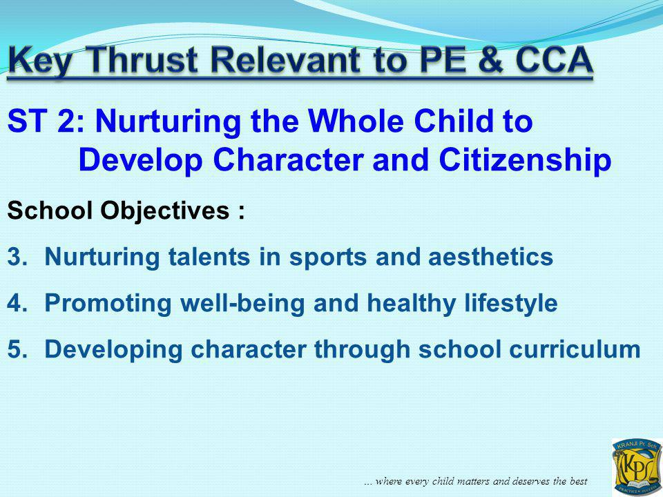 Key Thrust Relevant to PE & CCA