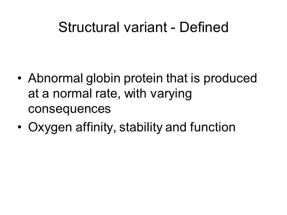 Structural variant - Defined