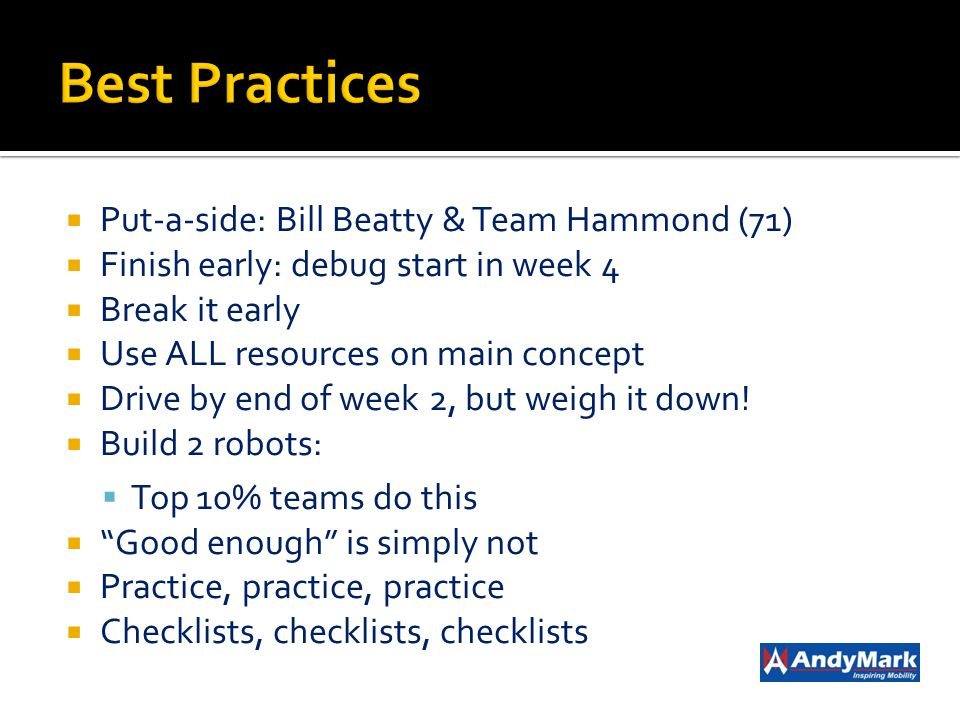 Best Practices Put-a-side: Bill Beatty & Team Hammond (71)