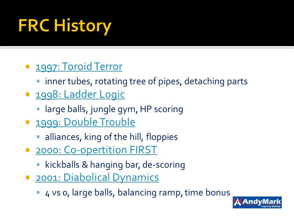 FRC History 1997: Toroid Terror 1998: Ladder Logic