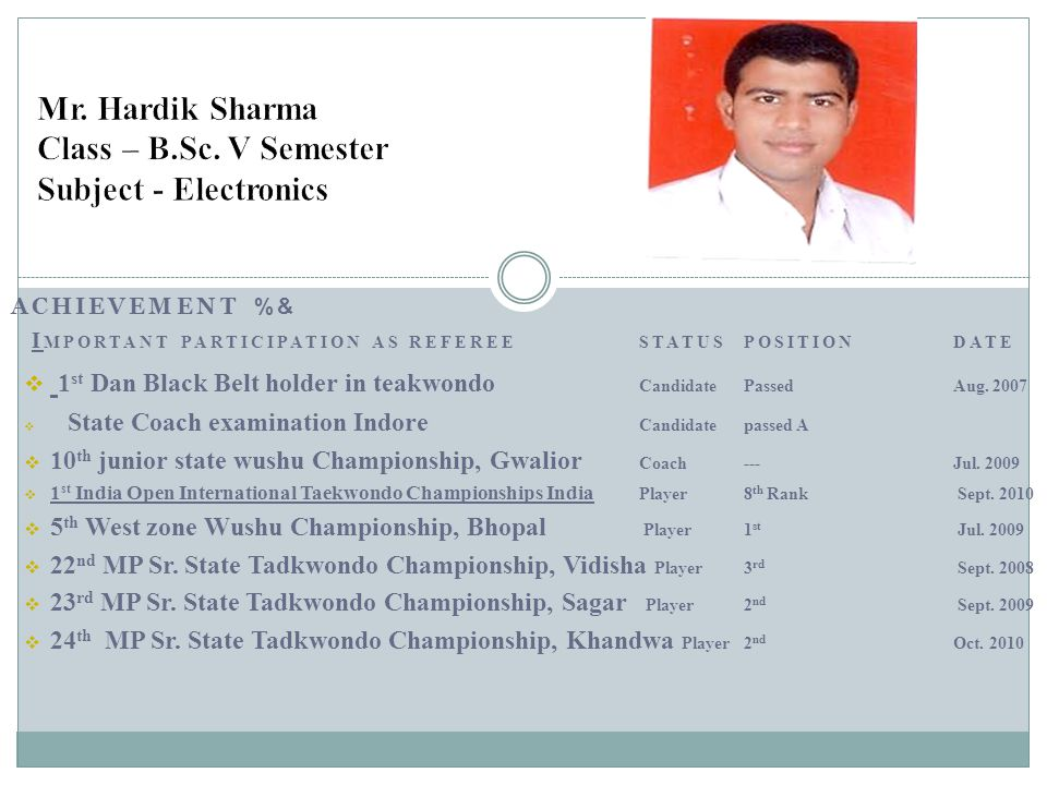 Mr. Hardik Sharma Class – B.Sc. V Semester Subject - Electronics