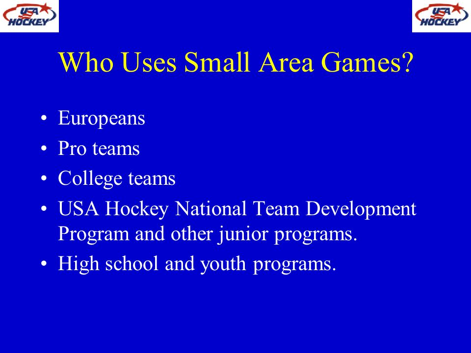 Who Uses Small Area Games