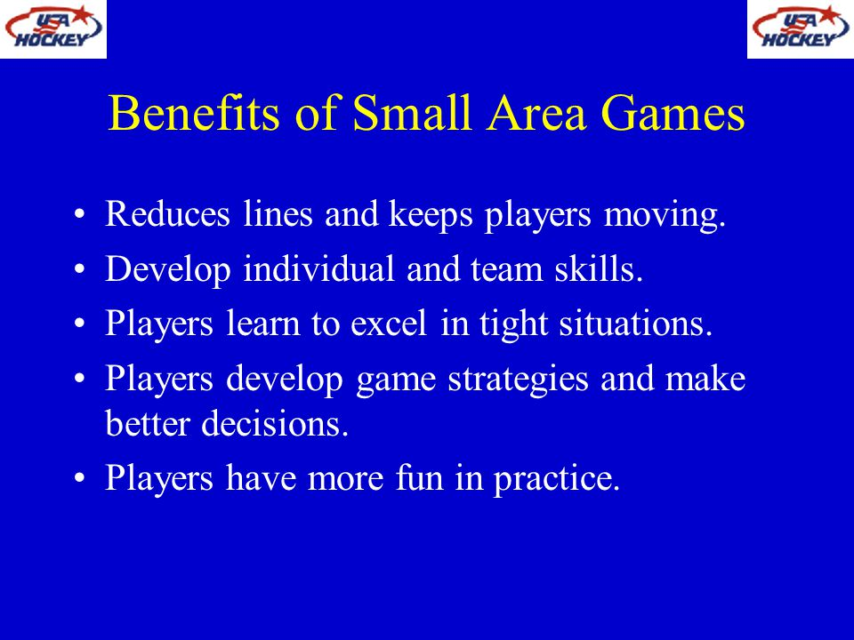 Benefits of Small Area Games