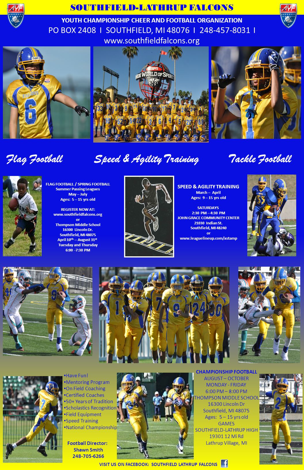 Speed & Agility Training Tackle Football