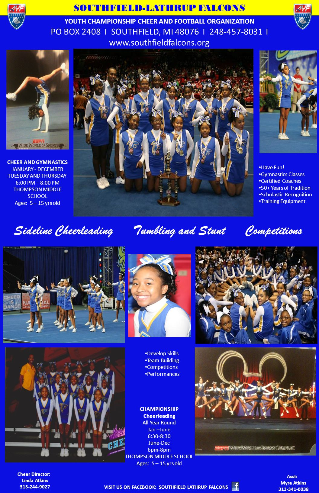Sideline Cheerleading Tumbling and Stunt Competitions