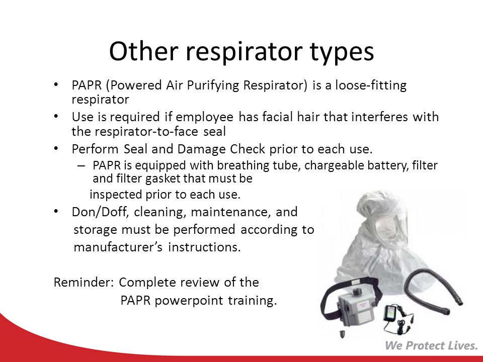 Other respirator types