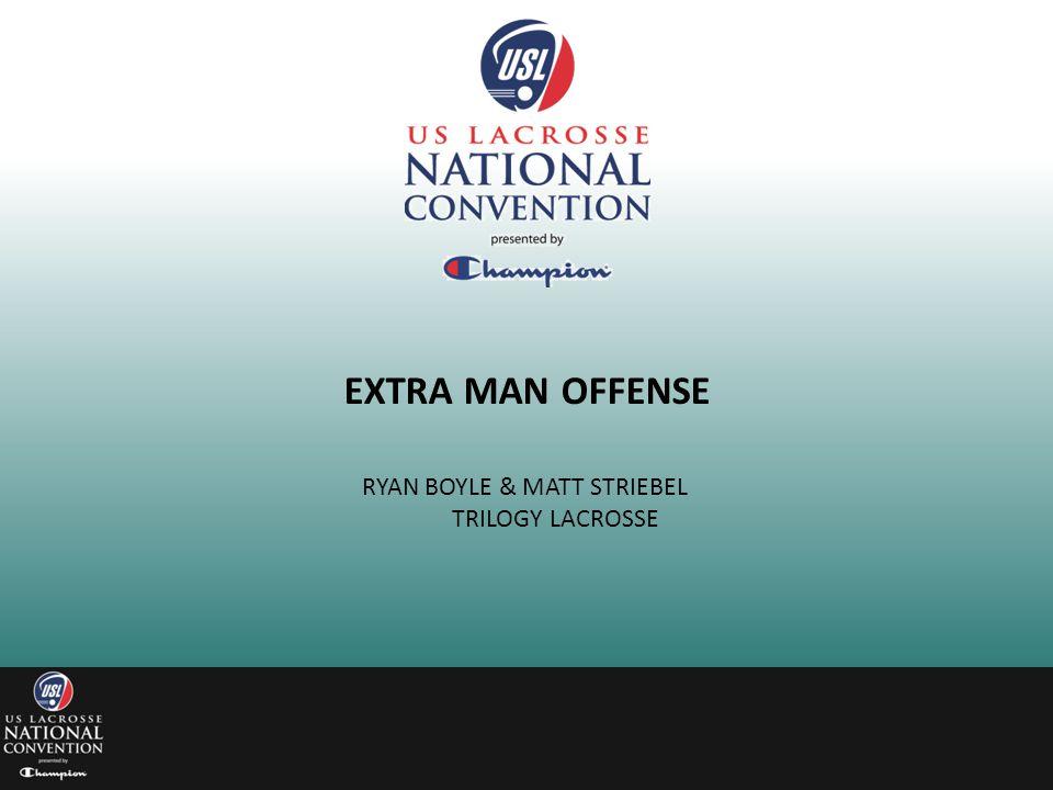 EXTRA MAN OFFENSE RYAN BOYLE & MATT STRIEBEL TRILOGY LACROSSE