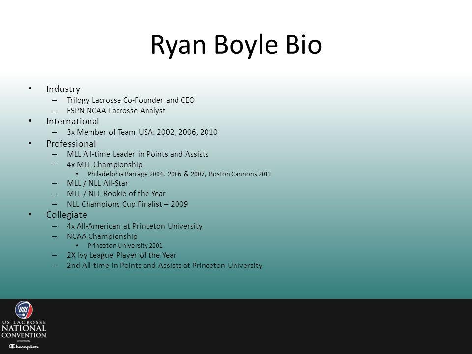 Ryan Boyle Bio Industry International Professional Collegiate