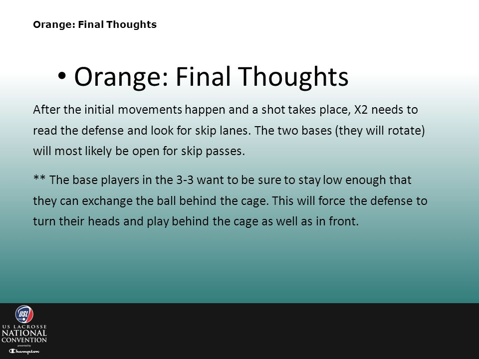 Orange: Final Thoughts