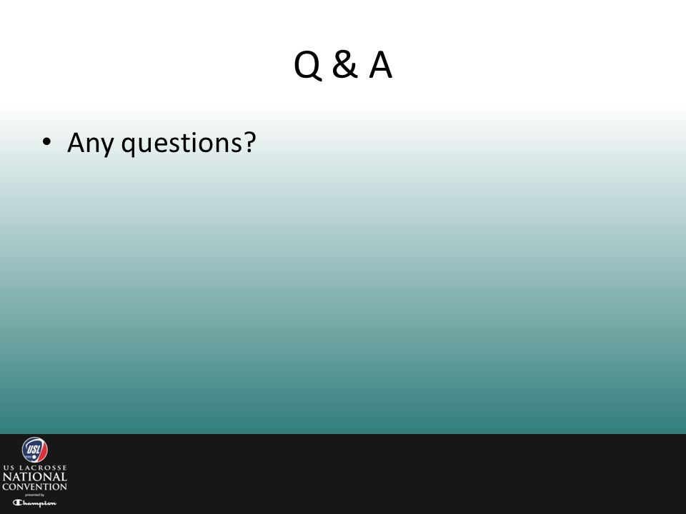 Q & A Any questions