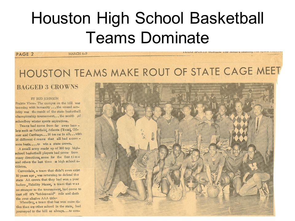 Houston High School Basketball Teams Dominate