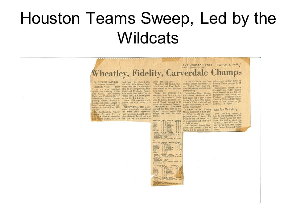 Houston Teams Sweep, Led by the Wildcats