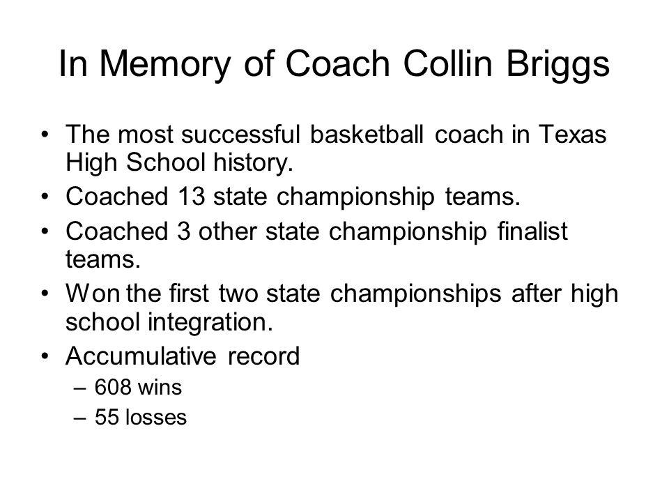 In Memory of Coach Collin Briggs