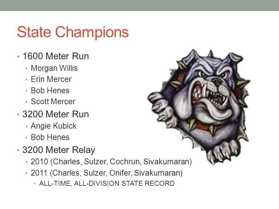 State Champions 1600 Meter Run 3200 Meter Run 3200 Meter Relay