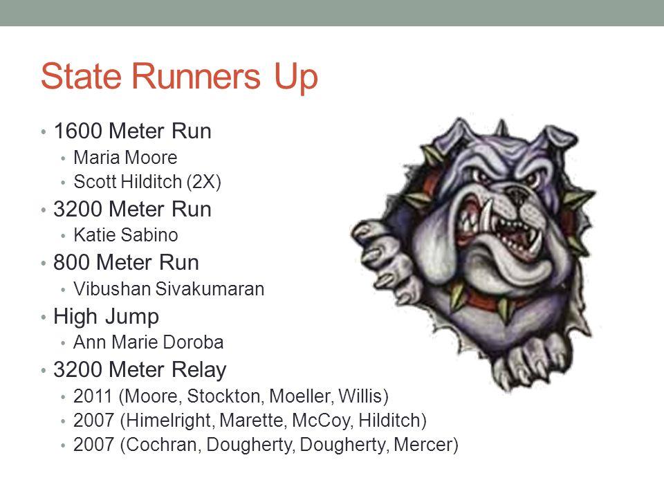 State Runners Up 1600 Meter Run 3200 Meter Run 800 Meter Run High Jump